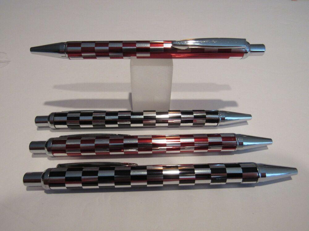 "TERZETTI /""RACER/"" Metal Ballpoint Pen-RED+Pouch"