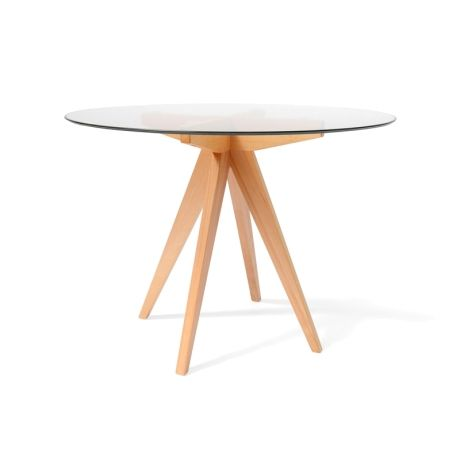 Arrow 100cm Glass Round Dining Table httpswwwinteriorsecrets