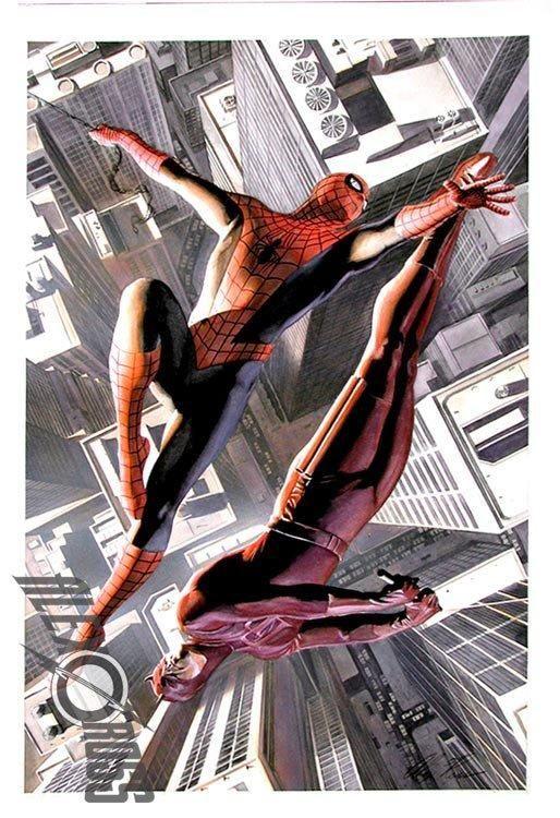 Demolidor e Homem Aranha de Alex Ross
