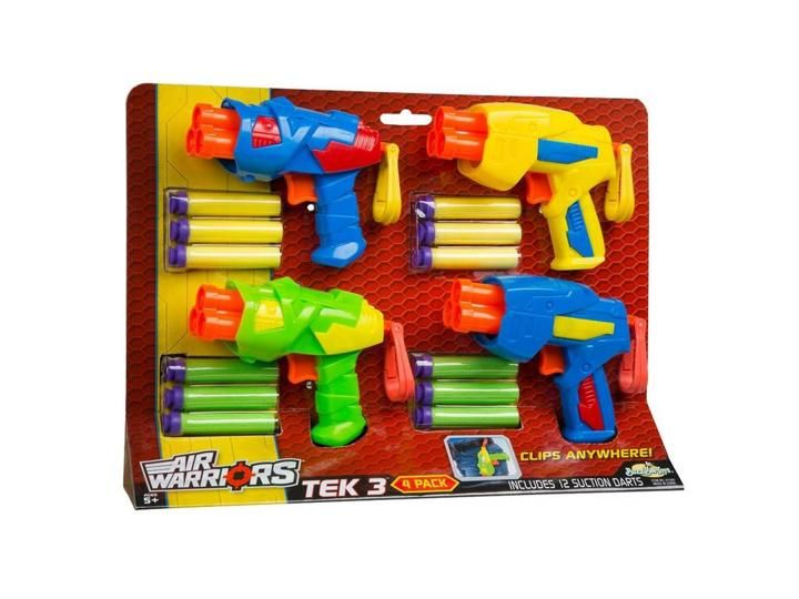 Buzz Bee Toys 61580 Air Warriors Tek 3 Four Pack