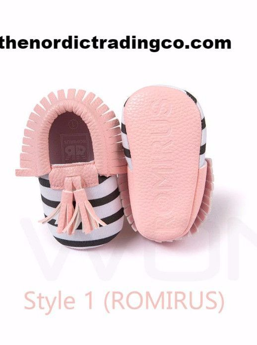 29ae0be7a2 Baby's First Shoes Coral Pink Fringe Tassels Moccasins Footwear ...
