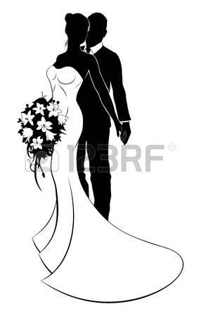 Dessin Mariés Noir Et Blanc بحث Google Wedding Silhouette Silhouette Silhouette Art