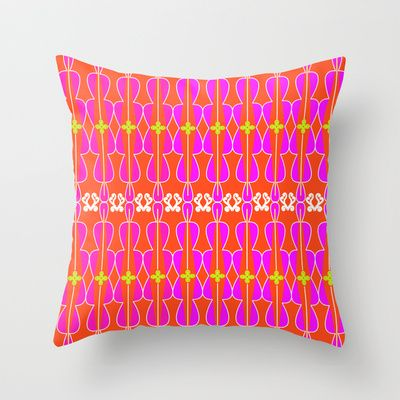 """Throw Pillow Cover made from 100% spun polyester poplin fabric, a stylish statement that will liven up any room. Individually cut and sewn by hand, the pillow cover measures 16"""" x 16"""", features a double-sided print and is finished with a concealed zipper for ease of care. Does not include pillow insert. http://society6.com/MarinaDaConceicaoDesign/Boho-chic-Indian-summer_Pillow#25=193&18=126"""