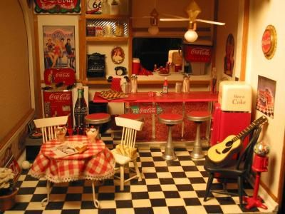 soda shop room box dollhouses rh pinterest com