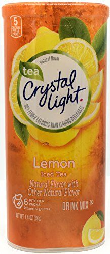 Crystal Light Lemon Iced Tea Drink Mix 12 Quart Canister Pack Of 19 Click Image For More Details Peach Ice Tea Drinking Tea Mixed Drinks