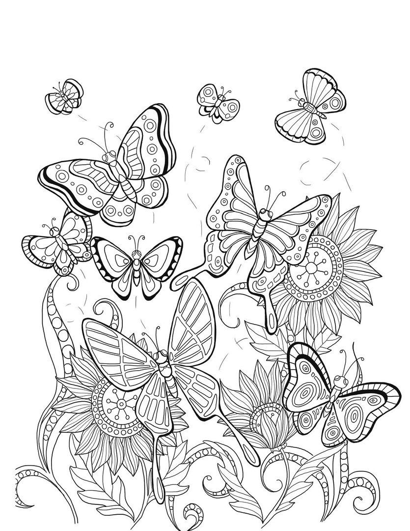 Raskraski Zentangl I Dudling Eto Veselo Butterfly Coloring Page Mandala Coloring Pages Love Coloring Pages [ 1080 x 835 Pixel ]