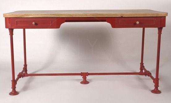 effy vintage office desk red home office desks everything red rh pinterest es