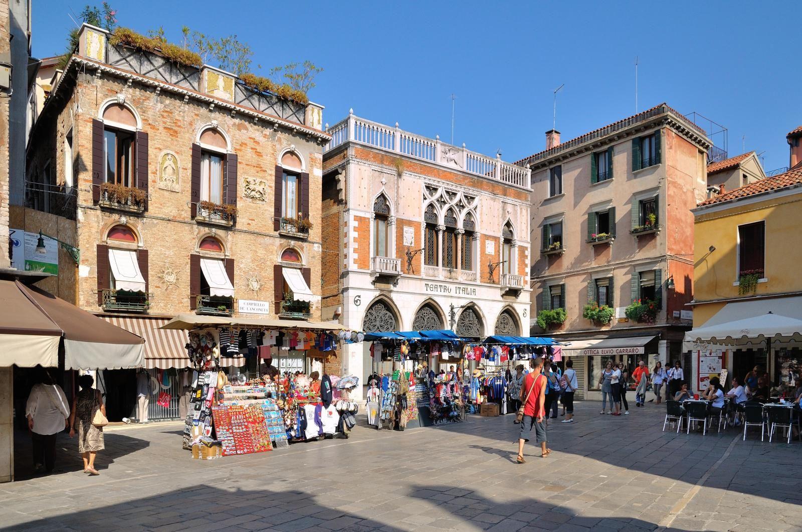 Venice Campiello De L Anconeta Teatro Italia Venice Italy San