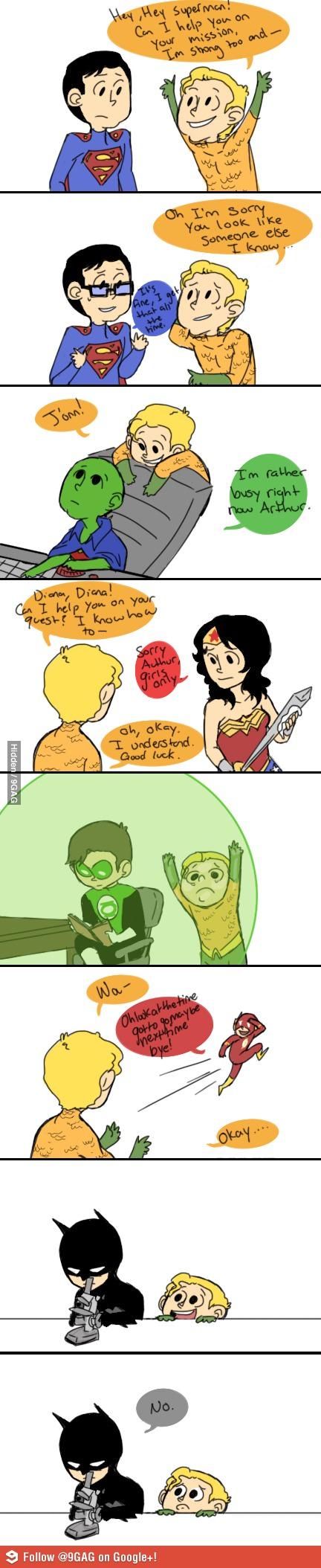 Pobre Aquaman...