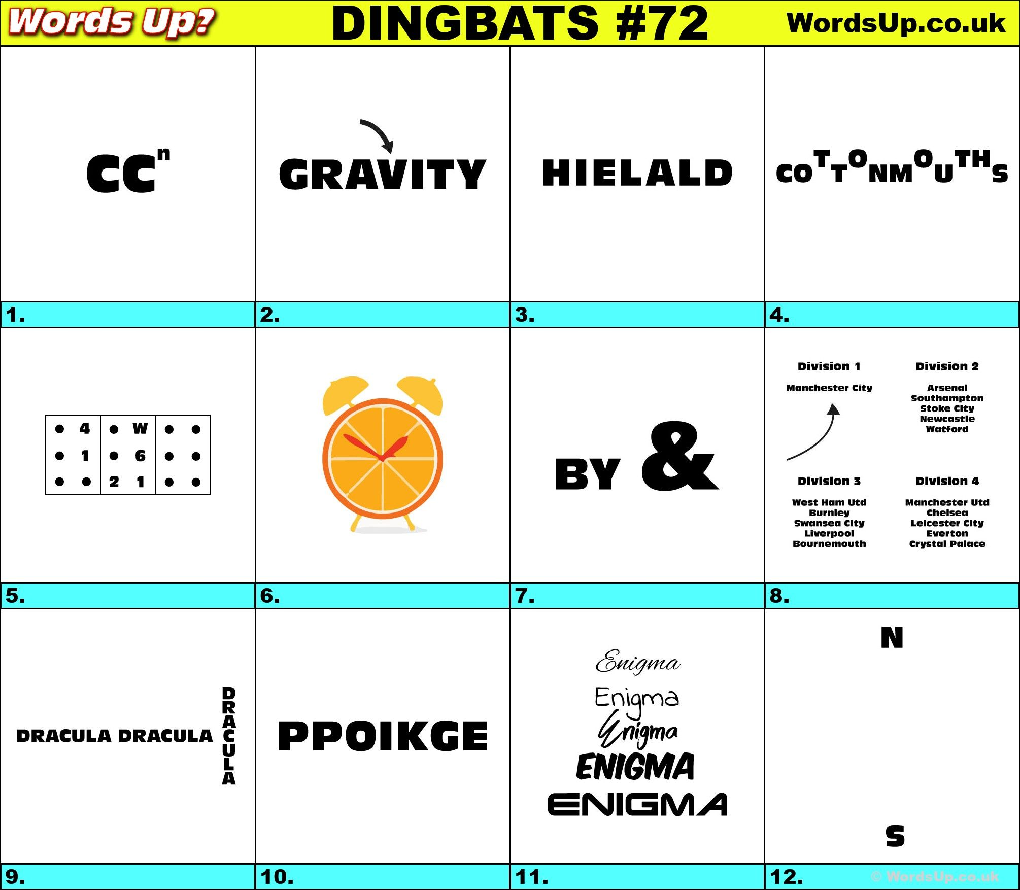 Dingbats Amp Whatzits Rebus Online And Printable Puzzles