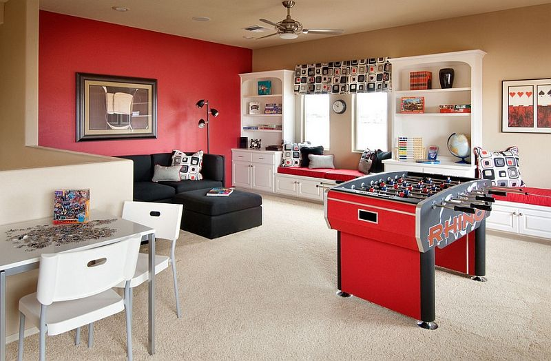 how to transform your attic into a fun game room colourful life rh pinterest com