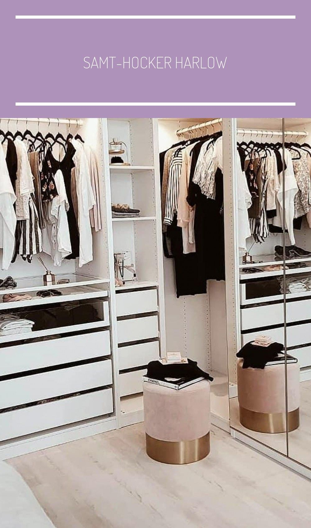 Samt Hocker Harlow In 2020 Dressing Room Design Bedroom Closet Design Wardrobe Room