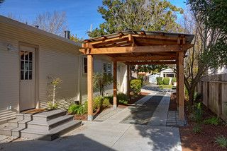nice use of gravel stone and pavers in carport landscape in 2019 rh pinterest com