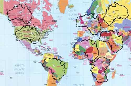 Beautiful Australian Maps Over The World. Visual Boost To Understanding.