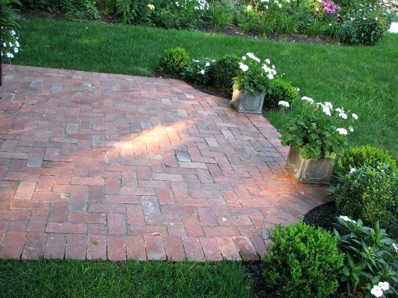 Small Brick Patio Ideas Used Brick Patio Extension To Deck Brick