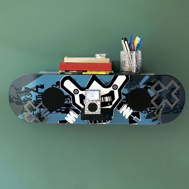 X Games Skateboard Speaker Shelf