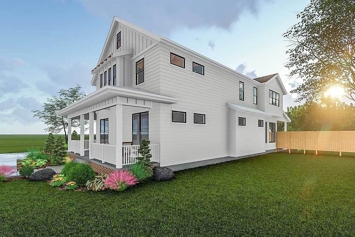 Plan 62715DJ 2Story Modern Farmhouse Plan With Front