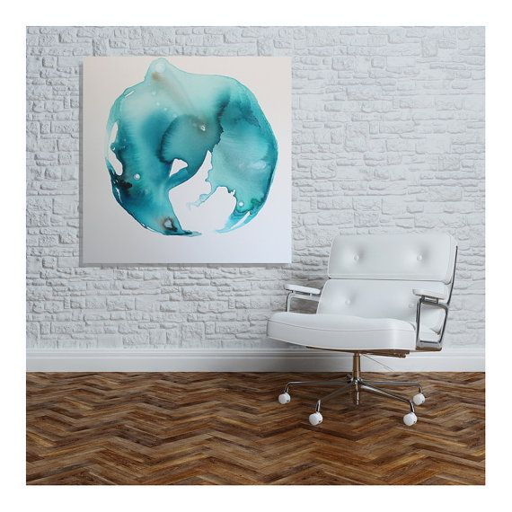 Large contemporary modern abstract art home decor