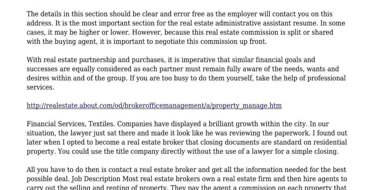 Admin assistant Job Description Resume Beautiful Real