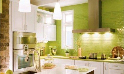 azulejos cocina verdes cocina Pinterest