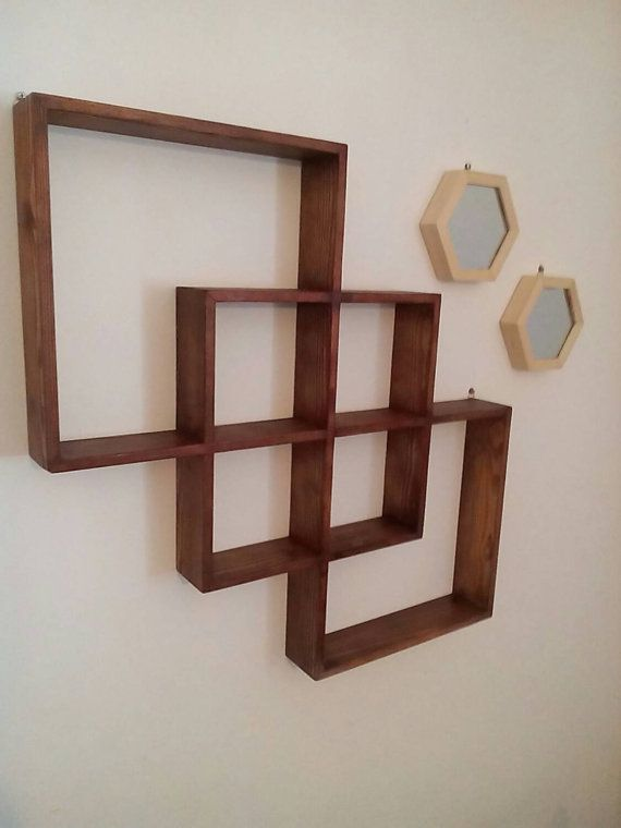 square shaped wall shelf shadow box by myidealhome on etsy diy rh pinterest com