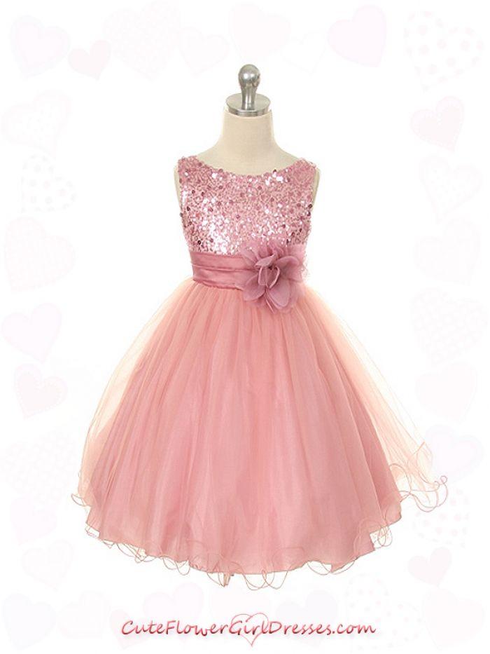 Rose Elegant Stunning Sequined Bodice Girl Dress   For my ...