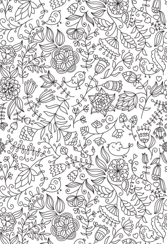 A cute little adult coloring page for a springtime revival ...