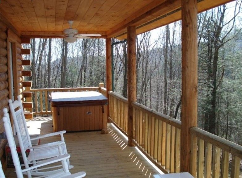 great choice for abby and steve boone cabin rental front deck rh pinterest at