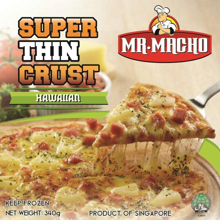 Mr Macho American Chic Hawaiian 9 5 Frozen Pizza Halal Certified Www Bakemission Com Sg Www Wugufeng Com Sg Halal Food Sin Halal Recipes Frozen Pizza Food
