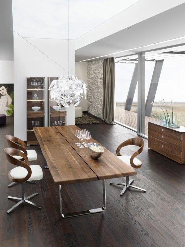 Nox Walnut Modern Dining Table modern