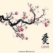 Original Painting Oriental Art Chinese Art Lovely Cherry Blossom Tree No 4 Blossoms Art Oriental Art Chinese Art