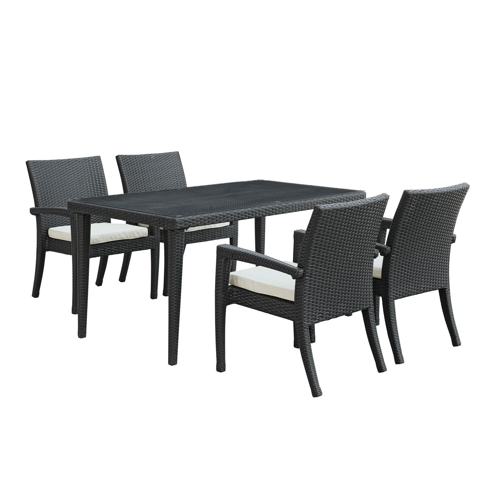 viva 5 piece dining set in espresso products rh pinterest at
