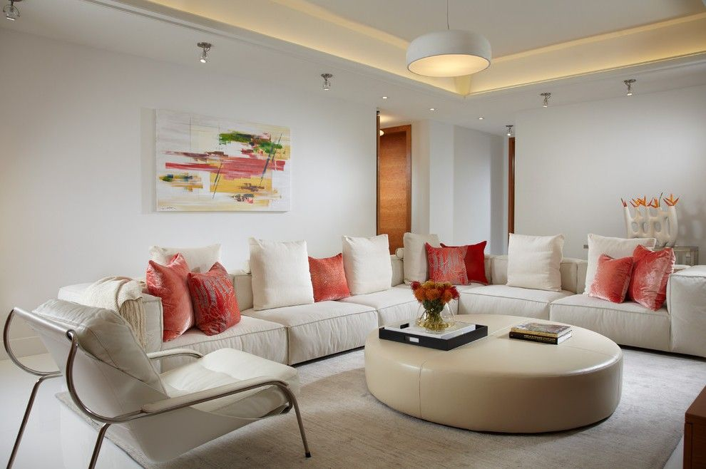 splendid spa decorating ideas with beige leather ottoman orange rh pinterest com
