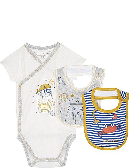 387f78ccee5c6 LITTLE MARC Seaside cotton three-piece baby set 1-9 months