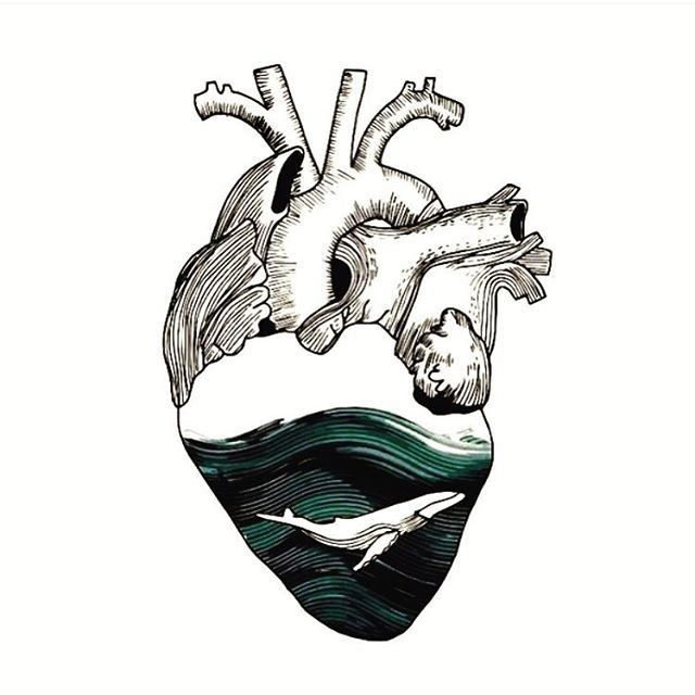 Wave heart. | Ink | Pinterest | Drawings, Art and Tattoos