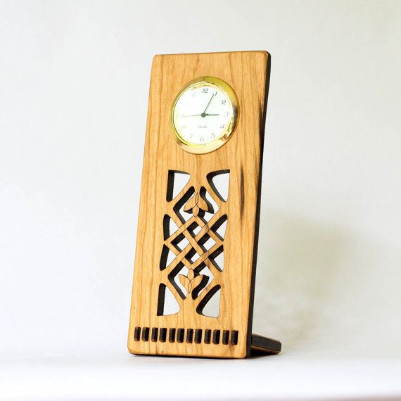 Celtic Desk Clock by ideasinwood on Etsy