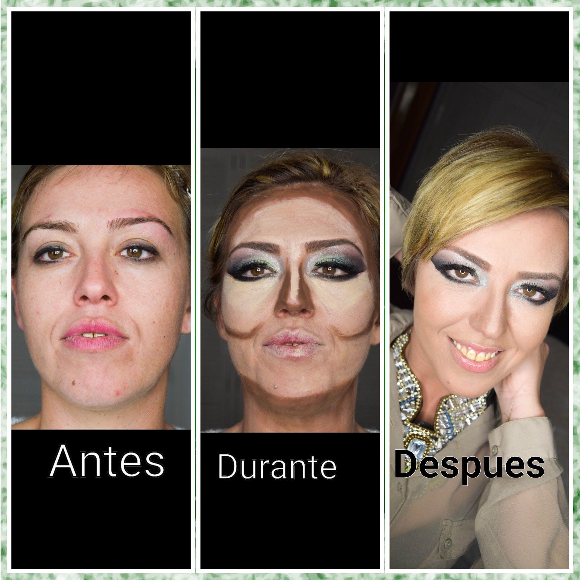 Maquillaje en tonos verdes ,fiesta,evento, etc