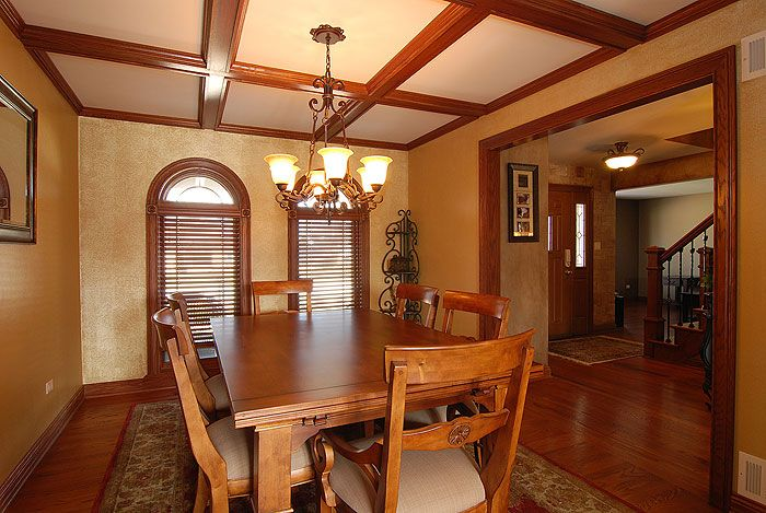 dining room remodel with amazing ceiling! designed by
