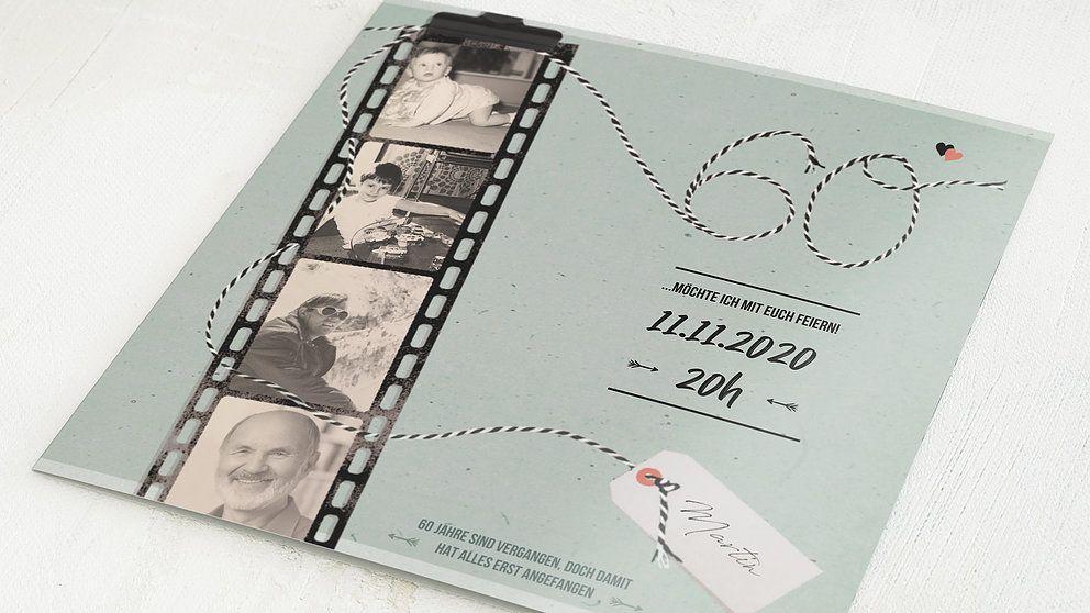 geburtstagseinladungen filmstreifen 60 detail in 2020