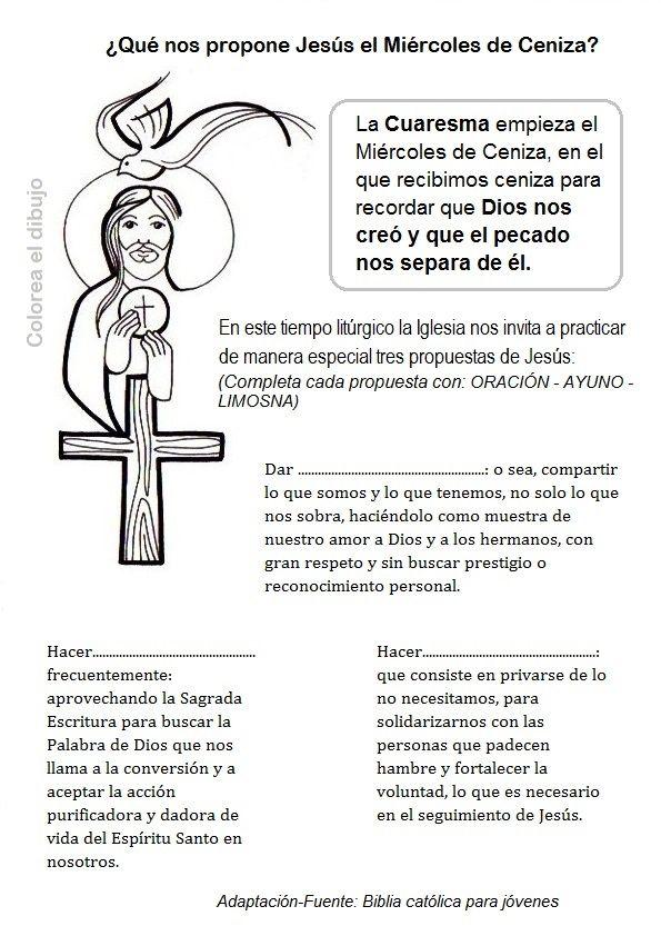 El Rincón de las Melli: ¿Qué nos propone Jesús el Miércoles de ...