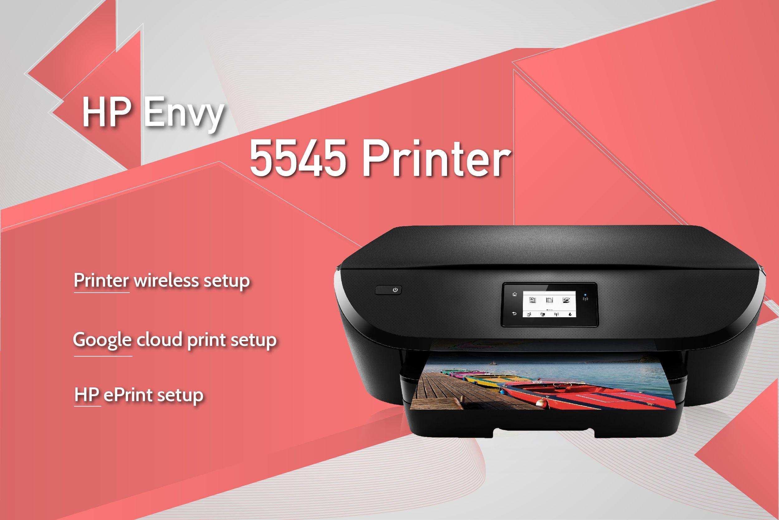 Get solutions for HP Envy 5545 printer wireless setup