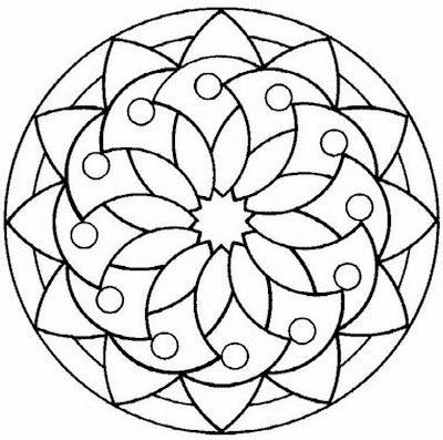 Mandala Para Colorear Hobby Pinterest Mandala Para