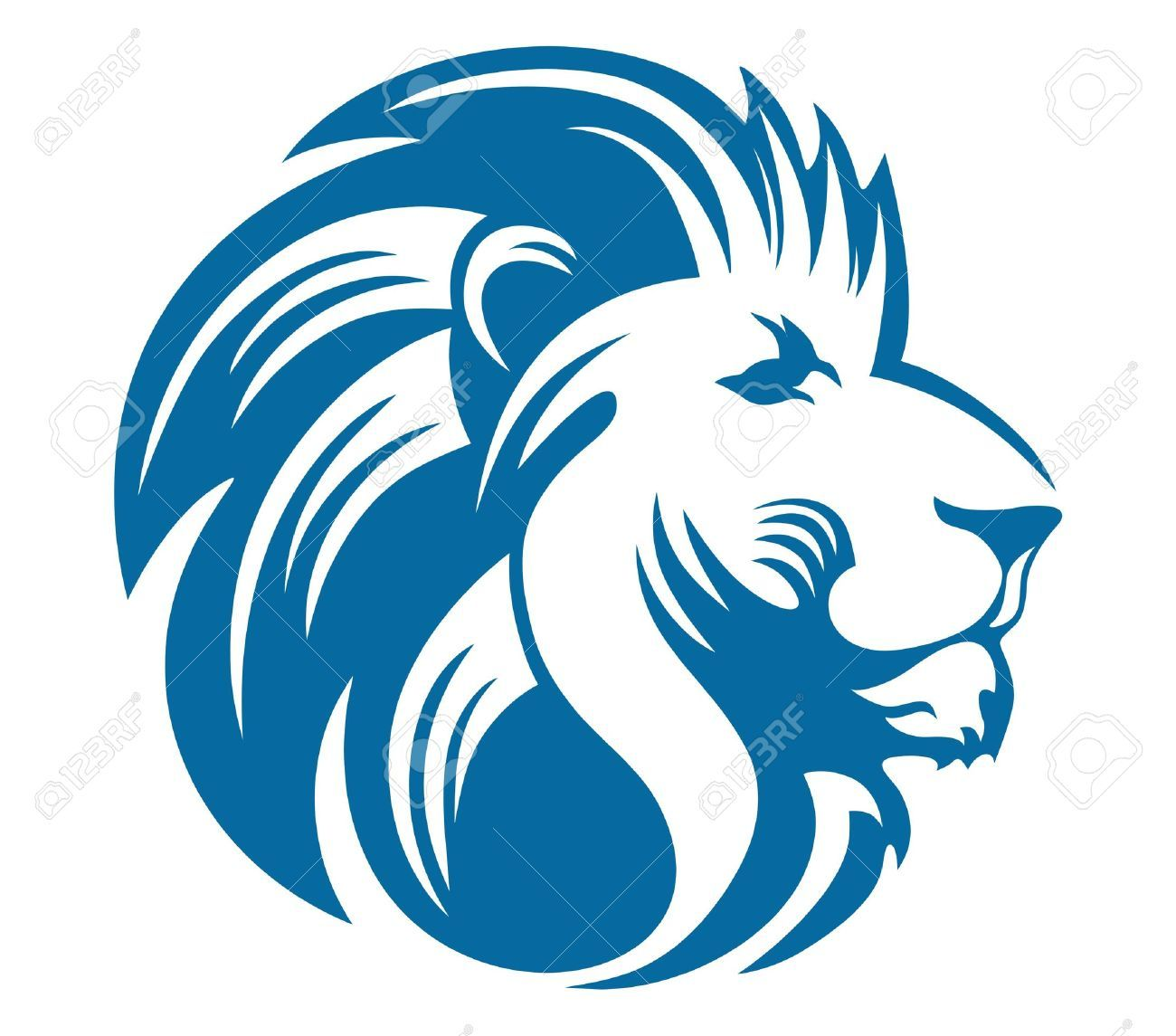 Blue lion logo with crown - photo#54