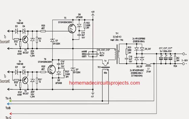 switch mode adjustable 0 100v 50 amp smps circuit homemade rh pinterest com