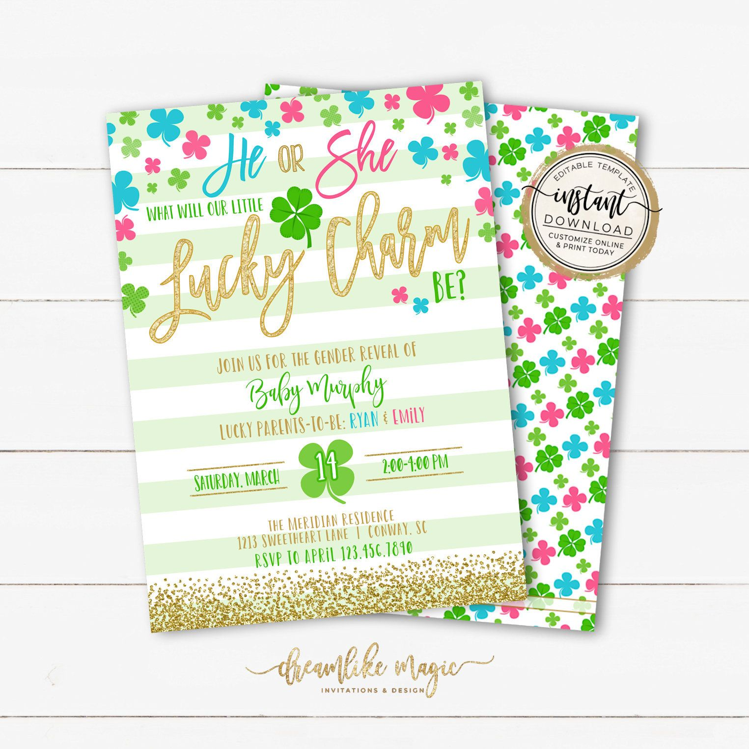 Pin By Dreamlike Magic On Gender Reveal Party Invitations Gender Reveal Invitations Gender Reveal Party Invitations Gender Reveal Party