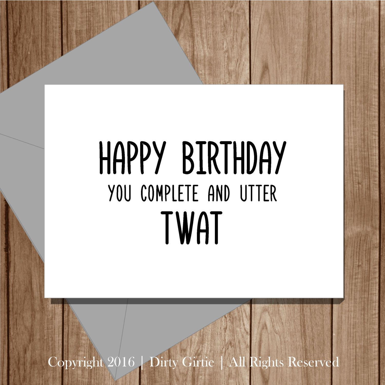 Pin On Rude Birthday Cards