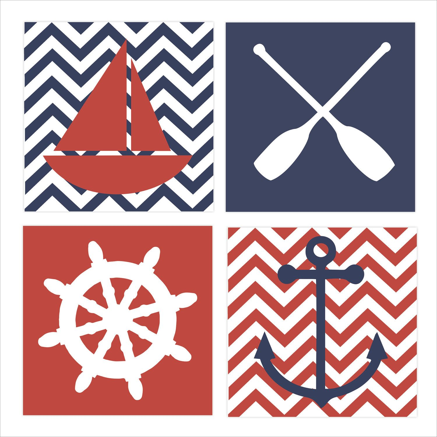 Nautical Theme, Regatta, Children's Wall Art, Nursery Wall ...
