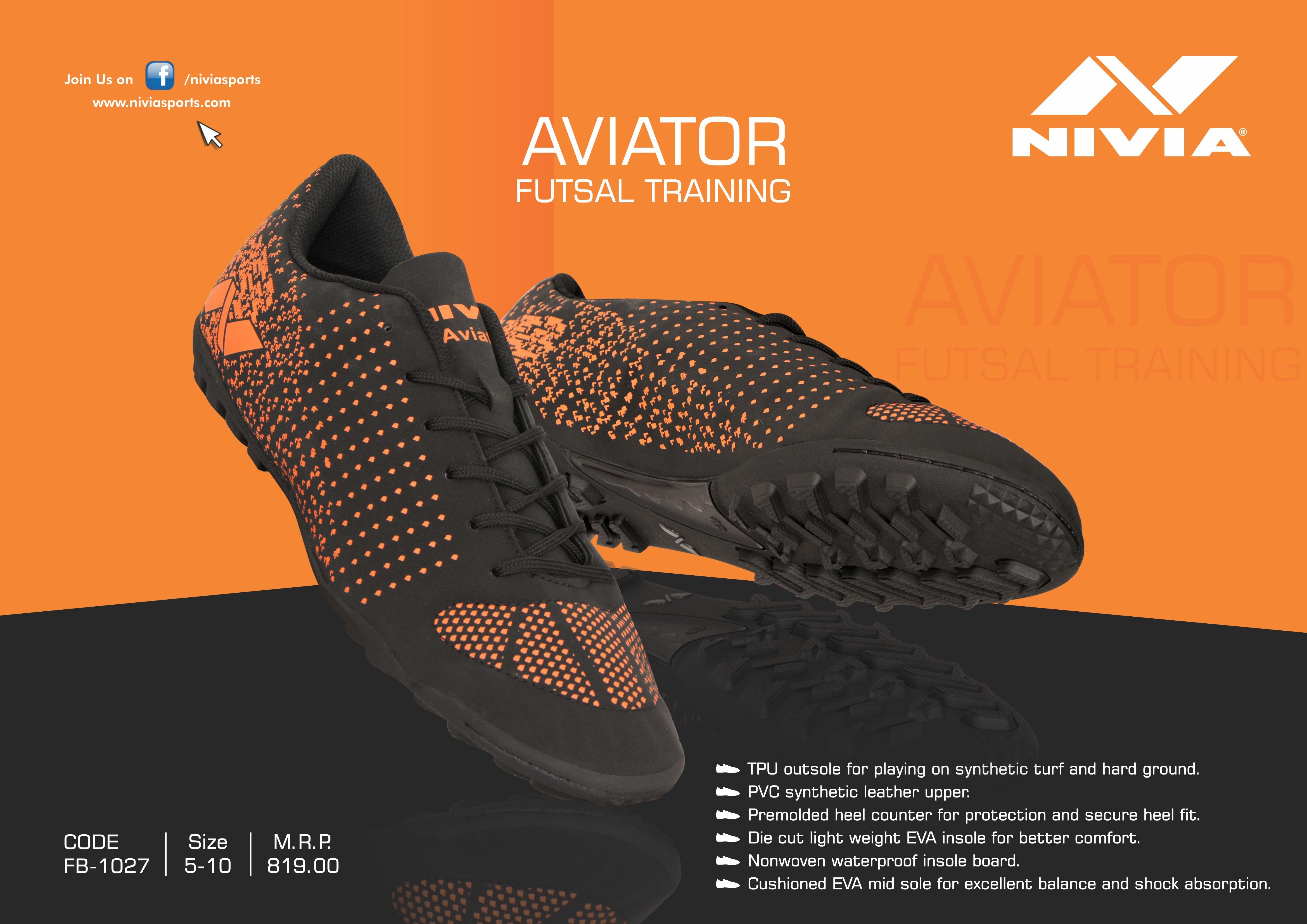 f075bff3c59 NIVIA Aviator Futsal Shoe