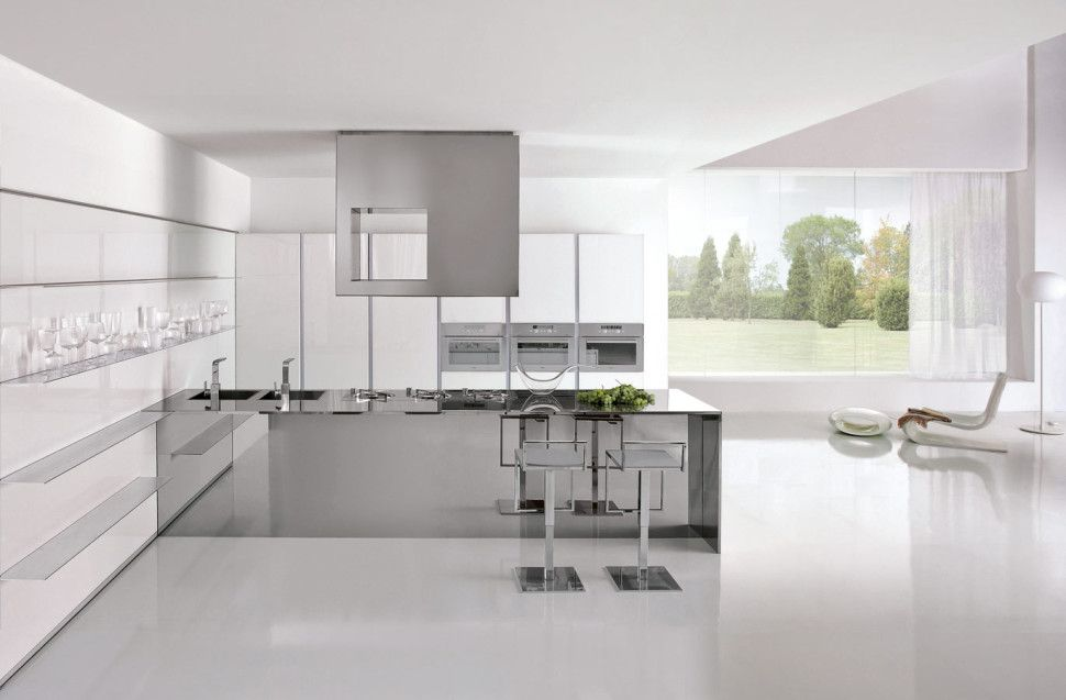 KitchenModulo Casa Clean White Italian Kitchen Island