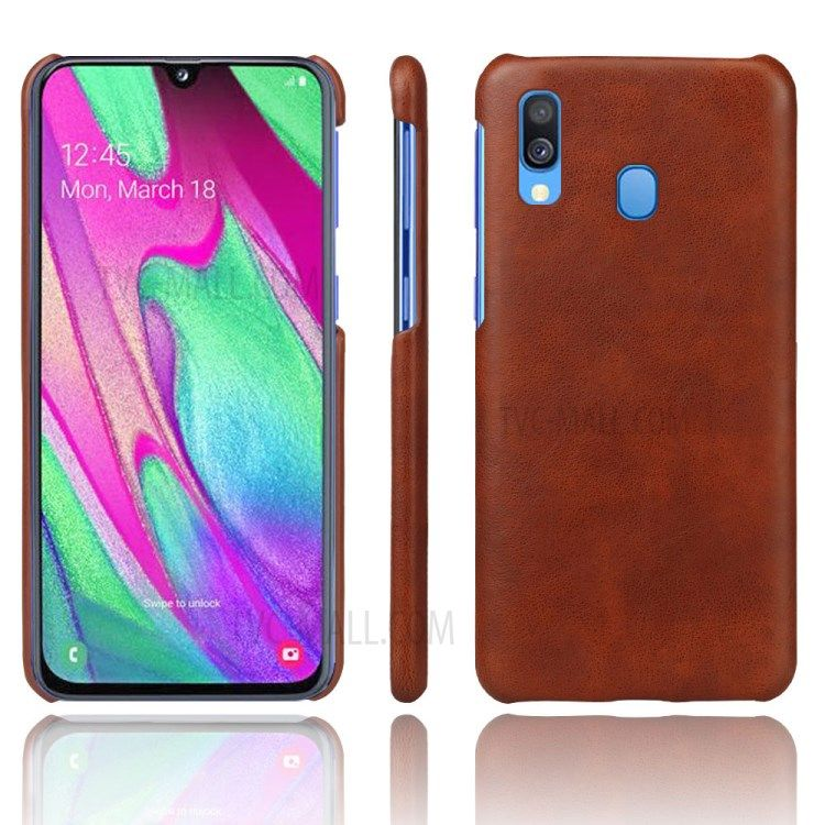 Ksq Crazy Horse Pu Leather Coated Hard Pc Case For Samsung Galaxy A40 Brown Phones Samsung Tablets Android Mobiles Samsung Samsung Hulle Android